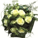 Showy bouquet of roses