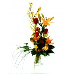 High bouquet in warm colours